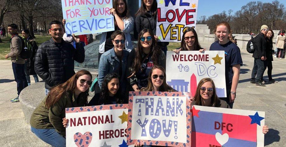 DFC Welcomes Honor Flight Veterans to D.C.